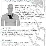 SE #3b balance procedure