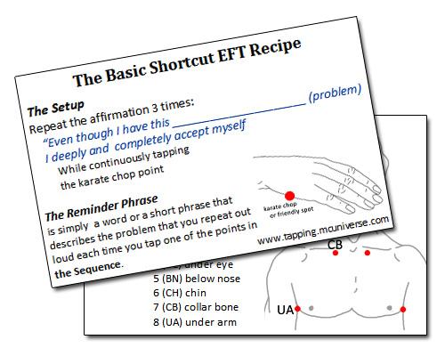 Basic EFT Cue Card