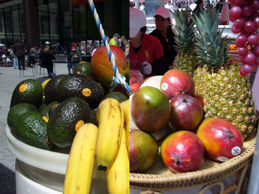 Avocados, bananas, mangoes, pineapple are safe to buy non-organic