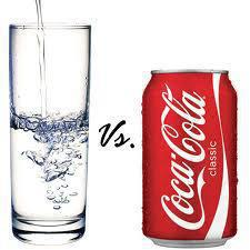 Water vs Coke